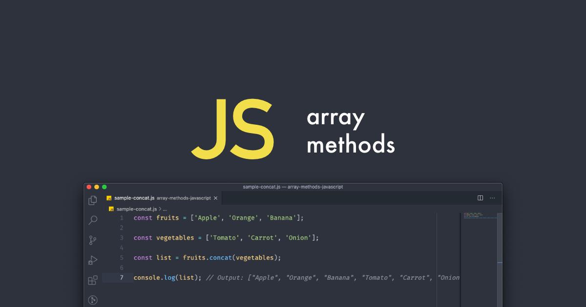 Métodos para manipular arrays em JavaScript